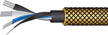 Gold Eclipse 7 high-end audiophile Audio Interconnect Cable cutaway, best, patch cords, videophile